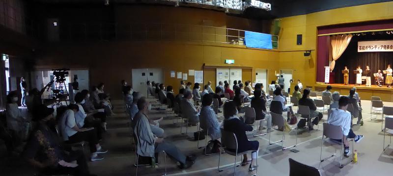芸能ボランティア発表会の様子